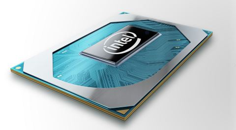 A photo shows Intel's new 10th Gen Intel Core H-series processor. Intel Corporation released the new processor family on April 2, 2020. (Credit: Intel Corporation)