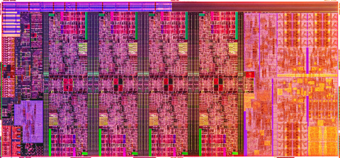 A photo shows the wafer of Intel's new 10th Gen Intel Core H-series processor. Intel Corporation released the new processor family on April 2, 2020. (Credit: Intel Corporation)