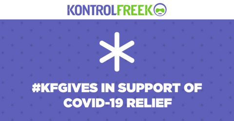 Performance Gaming Gear creator, KontrolFreek®, is helping combat the COVID-19 outbreak by donating revenue generated on KontrolFreek.com on April 3, 2020 to organizations actively involved in global relief efforts. (Graphic: Business Wire)