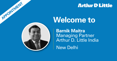 Barnik Chitran Maitra appointed as Managing Partner of Arthur D. Little India (Graphic: Business Wire)