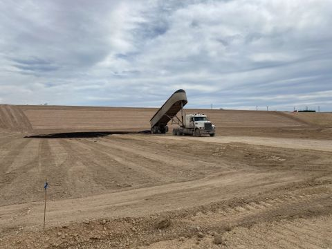 Milestone's new Upton Landfill is open seven days-a-week, 24 hours-a-day. With superior truck access for rapid and efficient turn-around, the facility is now accepting drill cuttings, contaminated soils, and other RCRA-exempt E&P waste materials approved for landfill disposal. (Photo: Business Wire)