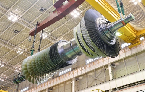M501JAC Gas Turbine Rotor (Photo: Business Wire)