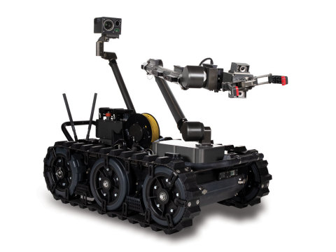 U.S. Marine Corps teams will use the FLIR Centaur™ robot to help disarm improvised explosive devices, unexploded ordnance, and perform similar hazardous tasks. Different sensors and payloads can be added to the 160-lb. Centaur to support a range of missions. (Photo: Business Wire)