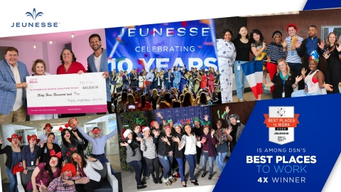 Jeunesse was honored for the fourth time for creating an engaging workplace. (Photo: Business Wire)