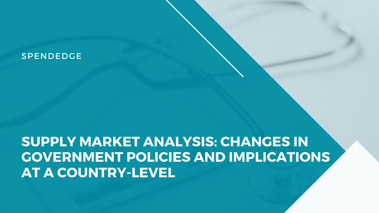 Supply Market Analysis: Changes in Government Policies and Implications at a Country-level.