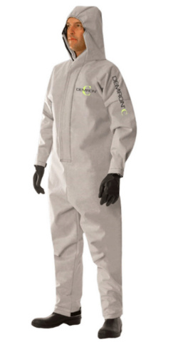 Radiation Shield Technologies today announced its introduction of Demron C reusable, full-body, anti-viral personal-protective equipment (PPE) for healthcare workers, first responders, and other high-risk individuals at the frontlines of the Covid-19 pandemic. Demron C is differentiated as the only reusable PPE, thereby eliminating the need to continuously replace the traditional single-use, disposable garments that are in scarce supply in today's healthcare crisis. (Photo: Business Wire)
