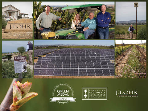 J. Lohr Vineyards & Wines Wins 2020 Green Medal Leader Award (Photo: Business Wire)
