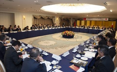 在2019年6月的G20大阪高峰會期間,FPT舉辦越南總理早餐會,討論與日本政府及企業之間的貿易合作。(照片:美國商業資訊)
