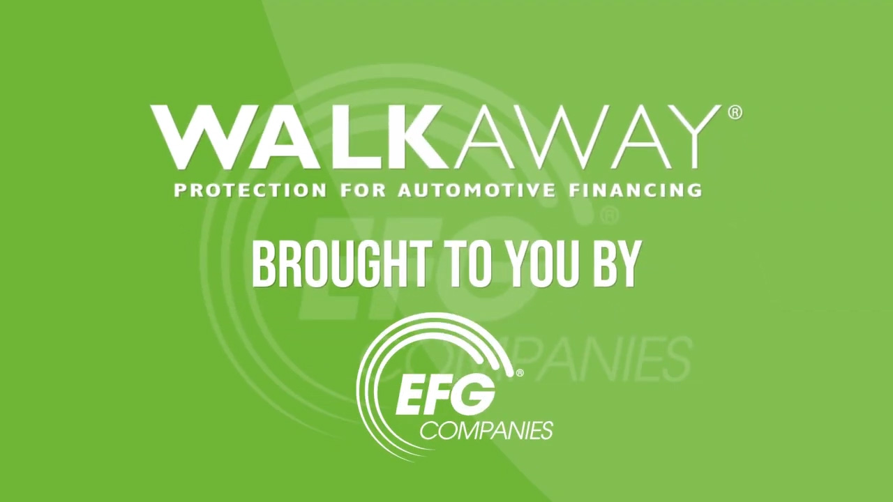 EFG Companies WALKAWAY automotive debt-protection product gives consumers the freedom to walk away from negative equity and can boost retail automotive unit sales.