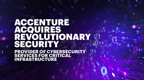 Accenture Acquired Revolutionary Security (Graphic: Business Wire)