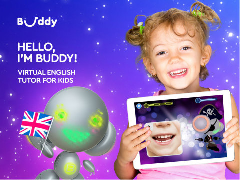 AI-powered voice English tutor, Buddy, the robot, helps kids to learn spoken language fast and easy (Photo: Business Wire)
