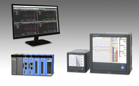 (top) GA10 display (bottom left to right) e-RT3 Plus and GX/GP (Graphic:Yokogawa Electric Corporation)