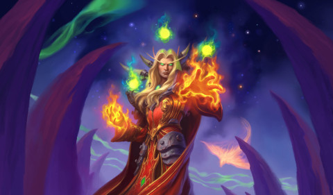 All Hearthstone players will receive the Legendary minion Kael'thas Sunstrider free for logging in. (Graphic: Business Wire)