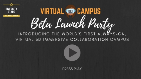 Virtual DEI Campus Launch Party video skin (Graphic: Business Wire)