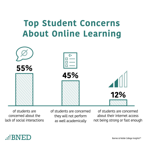 Top Student Concerns About Online Learning (Graphic: Business Wire)