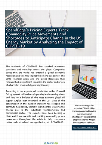 SpendEdge's Pricing Experts Track Commodity Price Movements and Shortages to Anticipate Change in the US Energy Market by Analyzing the Impact of COVID-19.