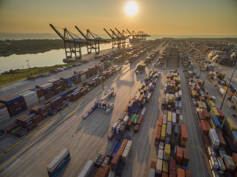 Container operations at Port Houston. (Photo: Business Wire)