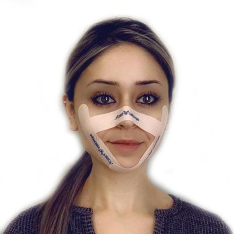 SpiderTech offers a solution to face mask skin damage & irritation. By combining masks with SpiderTech gentle Kinesiololgy tape, you can protect your skin. The gentle material is made for the sensitive skin on your face.(Photo: Business Wire)