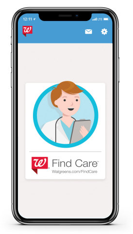 Walgreens today announced the expansion of the Walgreens Find Care™ platform to include new features and telehealth service providers, connecting patients and customers with more options to get convenient and affordable access to care from their computers and mobile devices. (Photo: Business Wire)