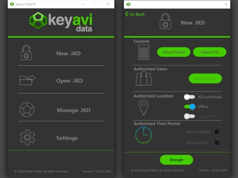Shown here is the Keyavi Data client interface. Source: Kayavi Data