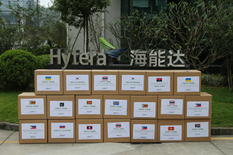 A total of 1 million masks have already been donated by Hytera to the Philippines, Thailand, Myanmar, Russia, South Africa and other countries. (Photo: Business Wire)