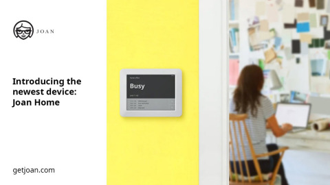 "Visionect, the leading innovator of ePaper solutions, and E Ink Holdings, ""E Ink"" (8069.TW), the leading innovator of electronic ink technology, today announced the release of Visionect's newest innovation for your workspace at home - Joan Home. (Photo: Business Wire)"