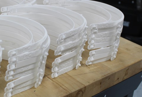Eaton used 3D printing to address critical protective equipment shortfalls. Hundreds of thousands of face shields are being supplied to hospitals in the fight against COVID-19. (Photo: Business Wire)