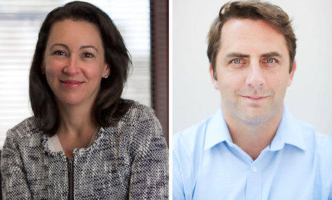 Julie O'Brien, Chief Marketing Officer (left) and Jonathan Reiber, Senior Director of Cybersecurity Strategy and Policy (right) (Photo: Business Wire)
