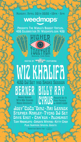 Weedmaps Brings Together Wiz Khalifa, Billy Ray Cyrus, Ari Lennox, Joey 'CoCo' Diaz, Berner & Other Top Talent For World's Biggest 4/20 Virtual Celebration (Graphic: Business Wire)