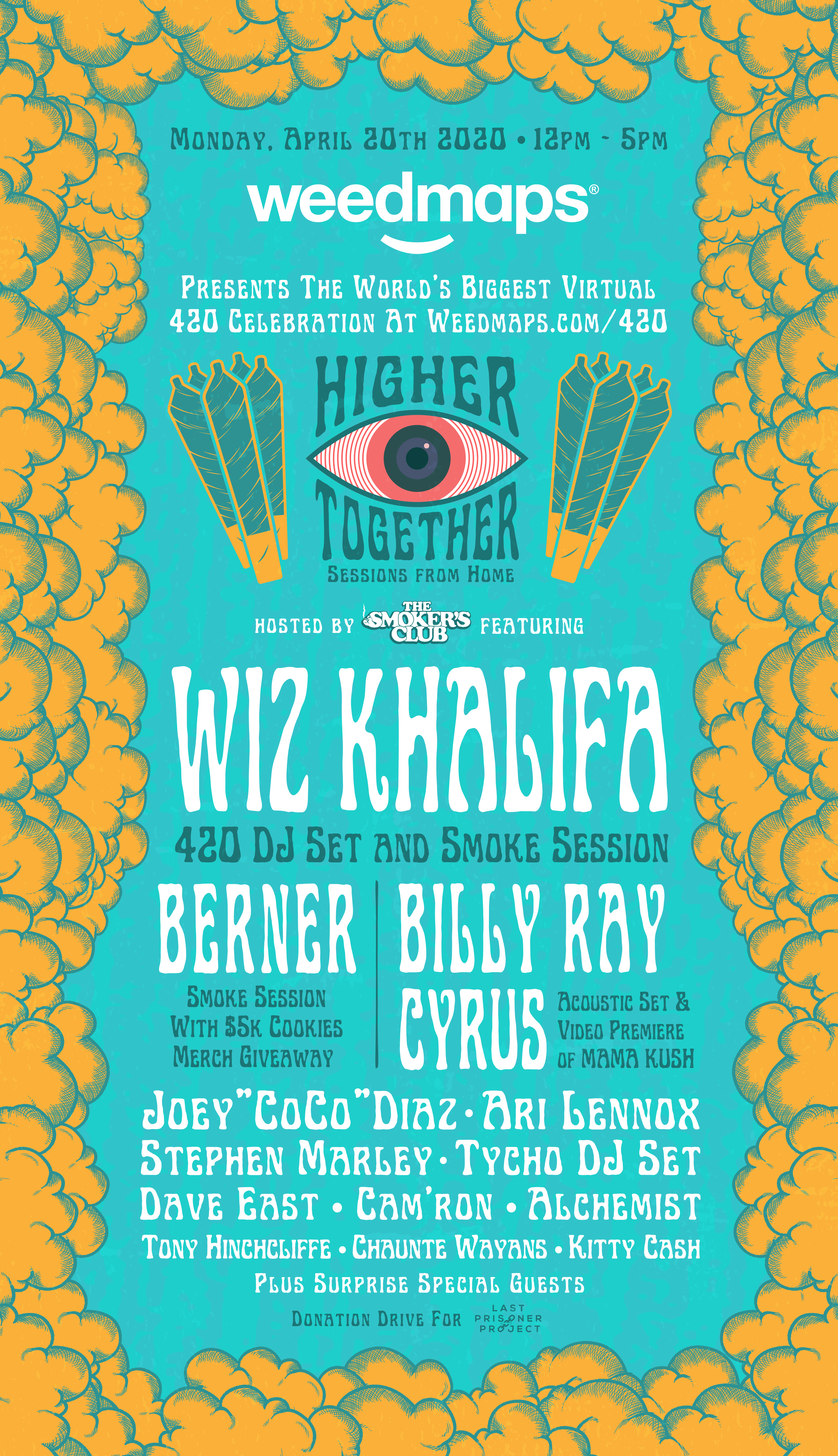 Weedmaps Brings Together Wiz Khalifa Billy Ray Cyrus Ari Lennox Joey Coco Diaz Berner Other Top Talent For World S Biggest 4 20 Virtual Celebration Business Wire