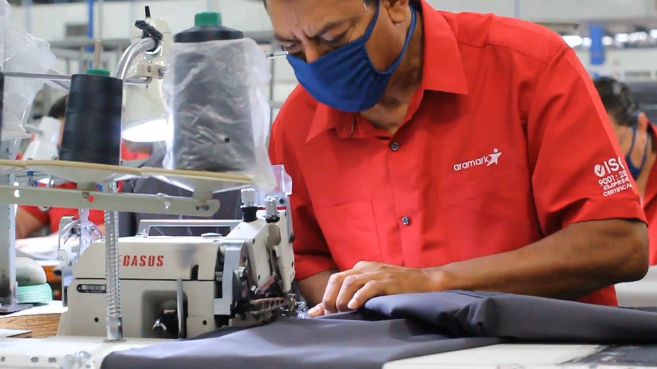 Aramark has converted its uniforms production lines to make masks, scrubs and isolation gowns for healthcare providers and other frontline workers to support the COVID-19 response.