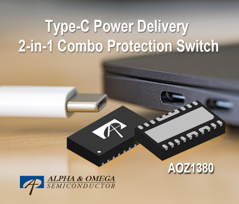 Type-C Power Delivery 2-in-1 Combo Protection Switch with Source and Sink Capability (Graphic: Business Wire)