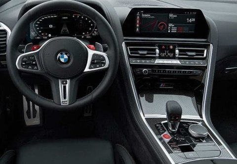 BMW M8 Cockpit and Dashboard Layout (Photo: Business Wire)