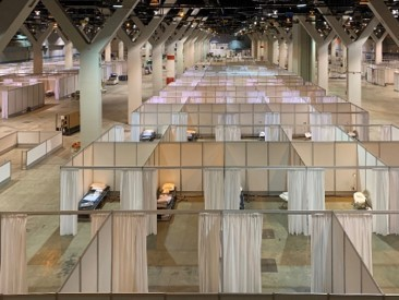 McCormick Place Convention Center Alternate Care Facility (ACF) for novel coronavirus (COVID-19) (Photo: Business Wire)