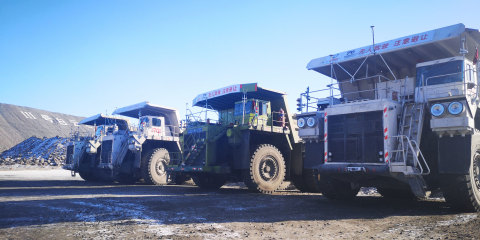 Autonomous mining vehicle. Photo credit: TAGE