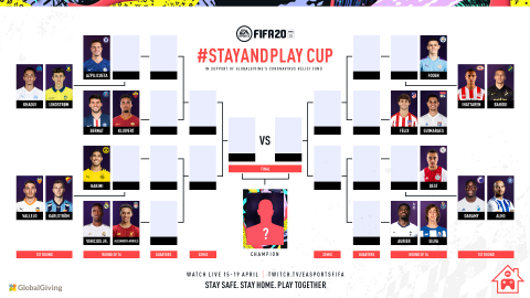 EA AND FIFA REVEAL FULL ROSTER, SCHEDULE AND GLOBAL TUNE-IN DETAILS FOR THE EA SPORTS™ FIFA 20 STAY AND PLAY CUP, APRIL 15-19 (Graphic: Business Wire)
