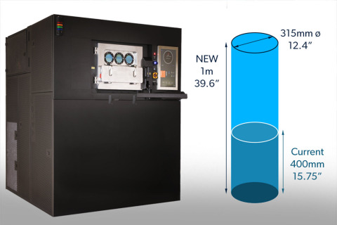 VELO3D's next-generation Sapphire industrial 3D printer will have a vertical axis of 1 meter, making it the world's tallest industrial metal additive manufacturing (AM) machine. (Photo: Business Wire)