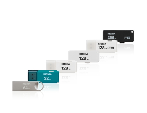 "Kioxia Corporation: ""KIOXIA"" branded USB memory products (Photo: Business Wire)"