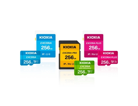 キオクシア株式会社:「キオクシア(KIOXIA)」ブランドのmicroSD / SDメモリカード製品 (写真:ビジネスワイヤ)