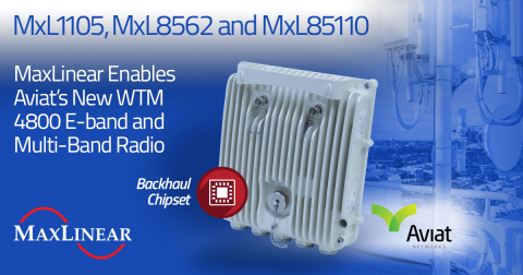MaxLinear Enables Aviat's New WTM 4800 E-band and Multi-Band Radio (Graphic: Business Wire)