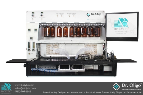 Biolytic Introduces the Dr. Oligo 768XLc DNA RNA Synthesizer - Synthesizing 768 Oligos Just Got Faster (Photo: Business Wire)