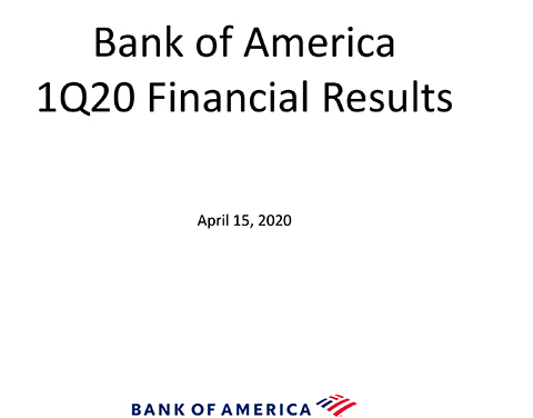 Q1-20 Bank of America Investor Relations Presentation