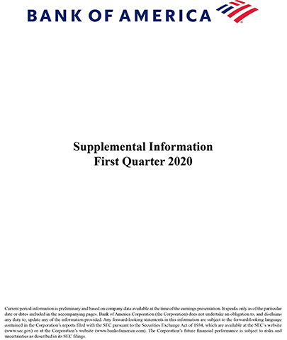 Q1-20 Bank of America Supplemental Information