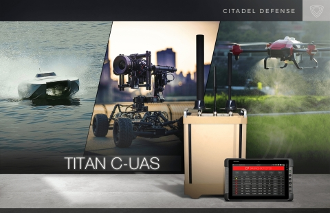 Industry-leading counter drone solution provider, Citadel Defense, releases new AI software to defeat air, land, and sea drones within a single system. (Graphic: Business Wire)