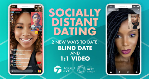 Largest African-American Dating App, Tagged, To Rollout Live Video Dating to Respond to COVID-19 (Graphic: Business Wire)