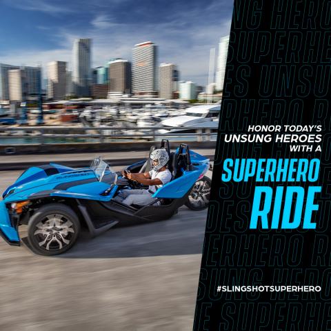 Polaris Slingshot Superhero Ride (Photo: Business Wire)