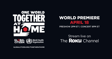 One World: Together at Home on The Roku Channel (Graphic: Business Wire)