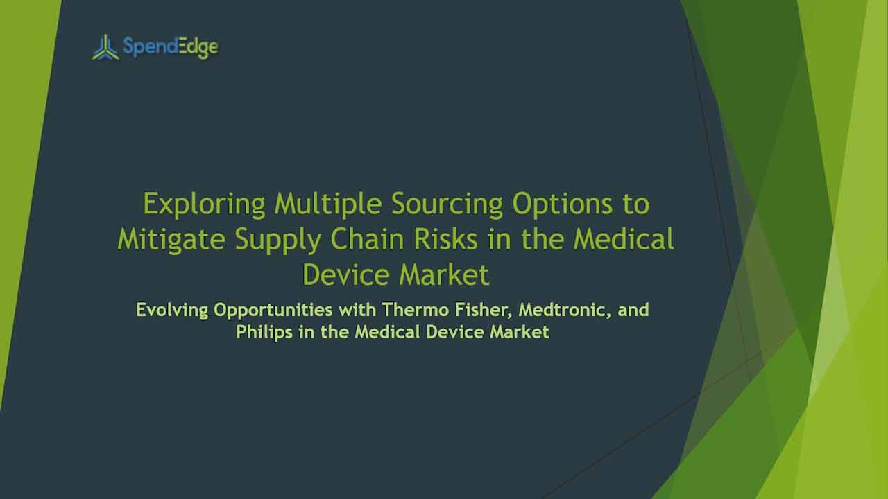 Multiple Sourcing Options to Mitigate Supply Chain Risks in the Medical Device Market