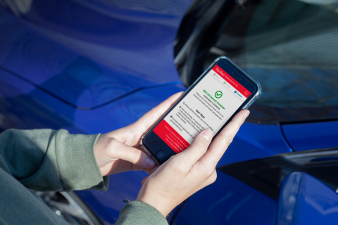 After service, when the vehicle is ready, Pep Boys Mobile Pay is an easy, safe and secure option. #wegofurtheratpepboys (Photo: Business Wire)