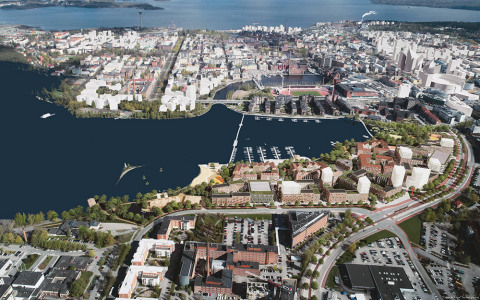 City of Tampere: The Viinikanlahti International Urban Ideas Competition in Tampere Has Ended. Photo by: Architecturestudio NOAN